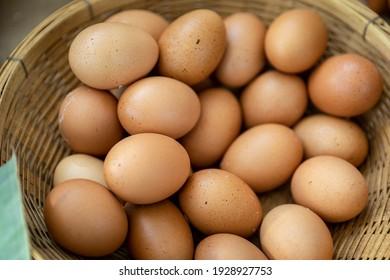 Egg in basket,Egg in the market