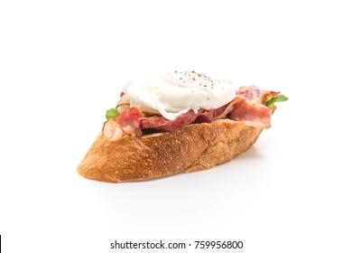 egg benedict isolated on white background