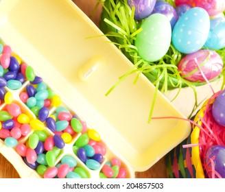 Egg carton of jellybeans for Easter
