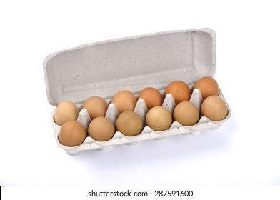Egg Carton On White Background