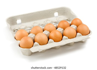 Egg carton on white background