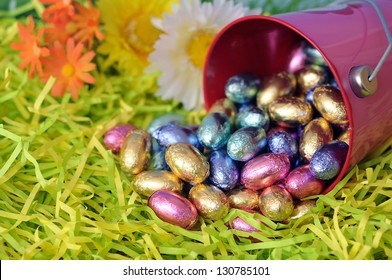 egg chocolate candy for Easter day