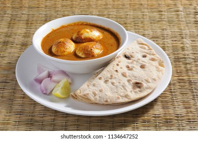 egg curry with roti/chapatti