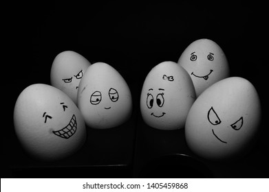 Egg group with emoji faces