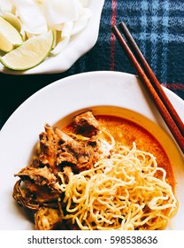 Egg Noodle in Chicken Curry (Kao Soi Kai )