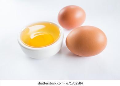 egg  Egg on White background