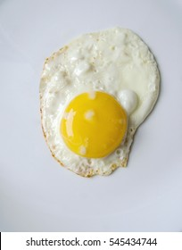 egg on a white plate