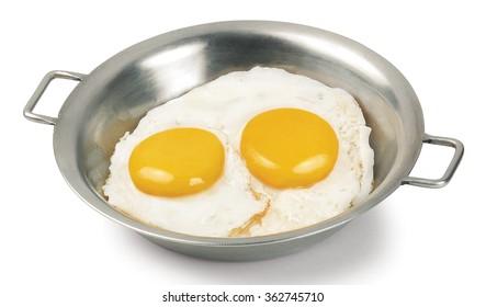 egg pan fried breakfast yolk fry fried protein morning