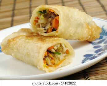 Egg Roll on a Plate