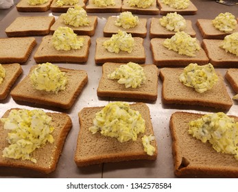 Egg salad sandwiches for the hungry
