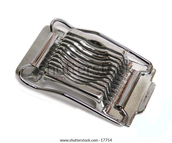 An egg slicer isolated on white with clipping path.