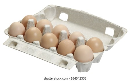 Egg tray isolated on white background