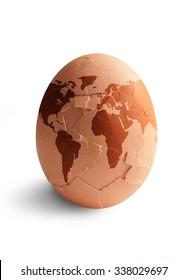 Egg world map hatching