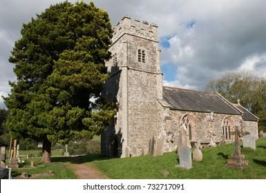 Eggesford Church and Churchyard in Rural Devon, England, UK