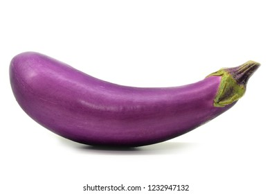 Eggplant or aubergine isolated on white background