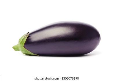 Eggplant (aubergine) isolated on white background, clipping path, full depth of field