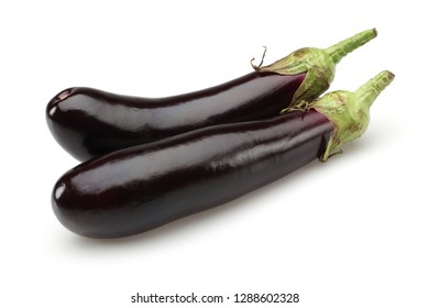Eggplant or Aubergine vegetable isolated on white background