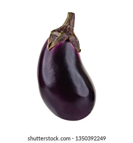 Eggplant or Aubergine vegetable isolated on white background.