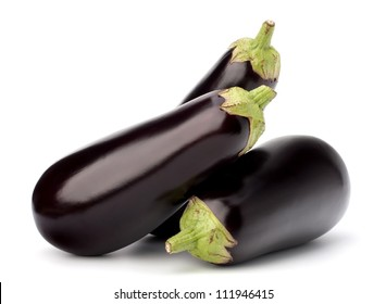 eggplant or aubergine vegetable on white background