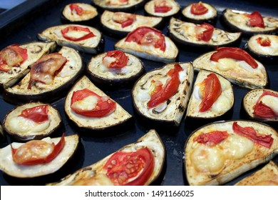 Eggplant baked with cheese and tomatoes