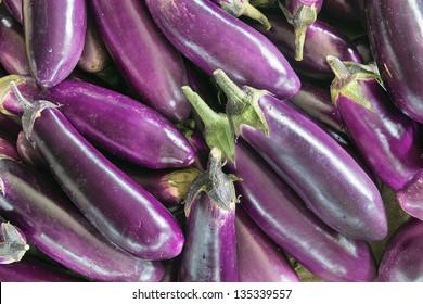 Eggplant Brinjal Vegetable Closeup Background