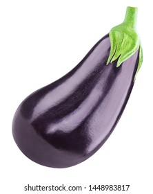 Eggplant Clipping Path. One aubergine eggplant isolated on white. Quality photo for your project.