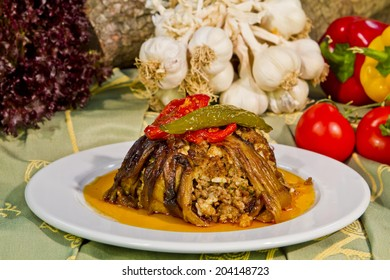 """Eggplant Dish Ottoman cuisine, which is one of the indispensable flavors """"eggplant cover"""" dinner."""