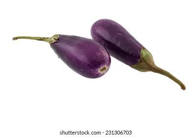 eggplant isolate on white