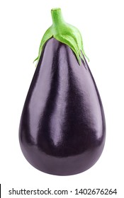 Eggplant Isolated with clipping path on a white background. Eggplant vegetable.