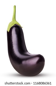 Eggplant isolated on white background. Clipping Path.