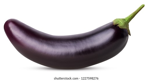 Eggplant isolated on white background. Clipping Path. Full depth of field.