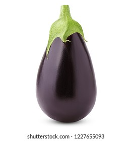 eggplant isolated on white background, clipping path, full depth of field