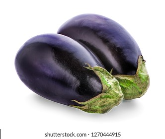 Eggplant Isolated with on a white background