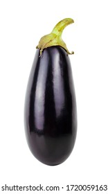Eggplant isolated on a white background. Aubergine as a whole. Violet vegetable. Lilac. Natural. Vegan.