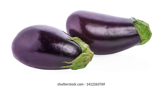 Eggplant isolated on white Clipping Path