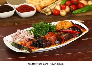 Eggplant Kebab - Turkish Patlican Kebab