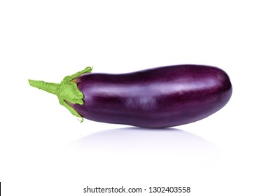 Eggplant. Photo of eggplant on a white background copy space. Insulated Eggplant. One fresh eggplant on a white background, with clipping path.