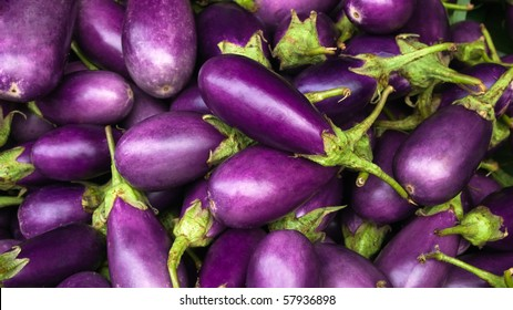 Eggplant purple from market