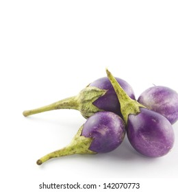 Eggplant purple on white background