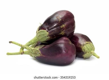 eggplant purple on white close