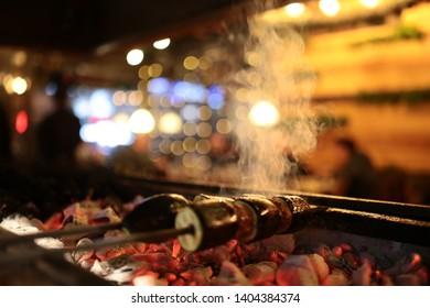 eggplant shish kebab fireside barbeque