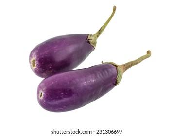 eggplant,purple eggplant isolate on white