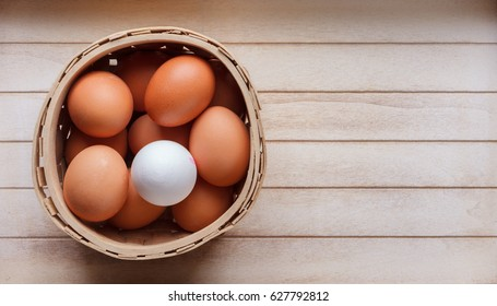 eggs in a basket - one different