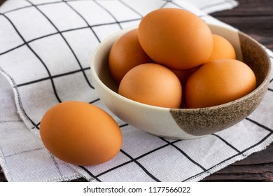 Eggs in the bowl.