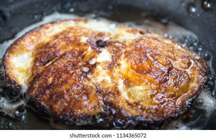 eggs cooking on a pan