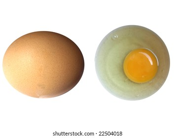 Eggs food isolated over a white background