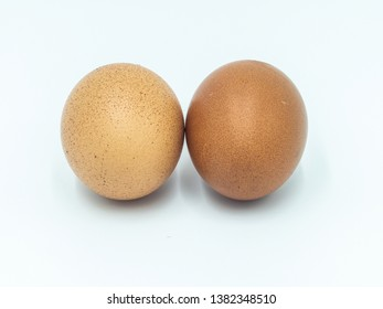 Eggs are high in calcium and therefore the color of the egg shell is dark but Chicken eggs are light in color, have little calcium.  There are many kinds of cooking eggs and desserts.