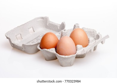 Eggs isolated on white background studio