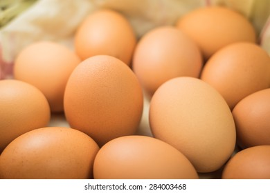 Eggs, Many eggs in a basket
