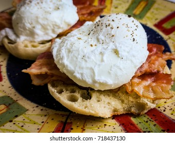 Eggs and Muffin Breakfast